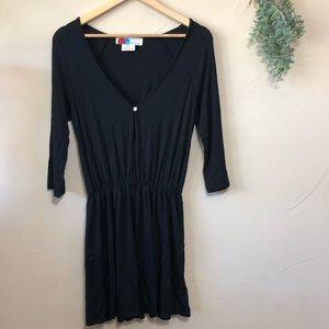FP Beach | Black Cinched T-Shirt Dress